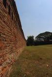 Antike alte Backsteinmauerbeschaffenheit Stockfotos