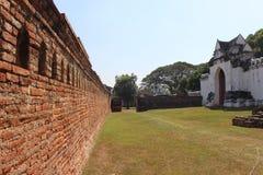 Antike alte Backsteinmauerbeschaffenheit Lizenzfreie Stockbilder