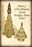 Antike Art-Weihnachtskarte Lizenzfreies Stockfoto