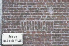 Antike Backsteinmauer Frankreich Lizenzfreie Stockfotografie
