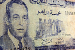 Antike Banknote des Königs Farouk, Marokko Lizenzfreies Stockbild