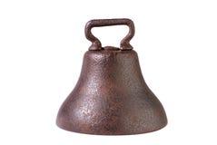 Antike bearbeitetes Eisen-Kuh Bell stockbild