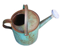 Antike Bewässerungs-Dose getrennt Lizenzfreie Stockbilder