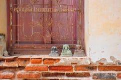 Antike bhudda Skulptur lizenzfreie stockbilder