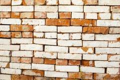 Antike braune Backsteinmauer Alter Ziegelstein Die Beschaffenheit der Backsteinmauer Weinlese-Effekt lizenzfreies stockbild