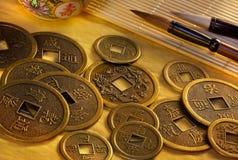 Antike chinesische Münzen - Peking - China stockbilder