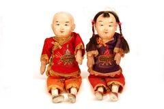 Antike chinesische Puppen Stockfotografie