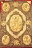 Antike evangelia Abdeckung lizenzfreie stockfotografie
