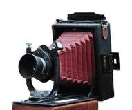 Antike Faltekamera Stockfotografie