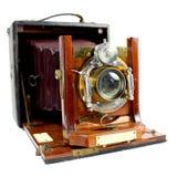 Antike Falten-Kamera Front View Stockfoto