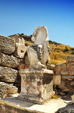 Antike Frauenstatue in Ephesus, die Türkei Lizenzfreies Stockbild