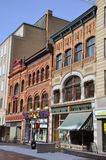 Antike Gebäude in Funken-Str., Ottawa Lizenzfreies Stockfoto
