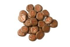 Antike germanische Runen Stockfotografie