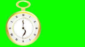 Antike goldene Taschen-Uhr stock video