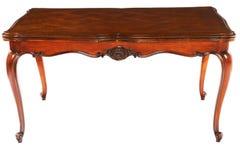 Antike hölzerne dinning Tabelle stockfoto