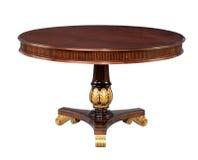 Antike hölzerne runde Tabelle Stockbilder