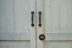 Antike hölzerne Tür stockfotos
