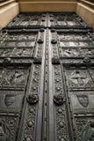Antike hölzerne Tür Stockbilder