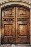 Antike hölzerne Tür Lizenzfreies Stockbild