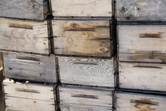 Antike Holzkistekisten Lizenzfreies Stockfoto
