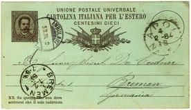 Antike italienische Postkarte Lizenzfreie Stockfotografie