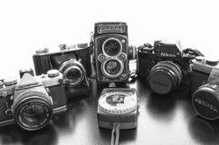 Antike Kamera-Sammlung Lizenzfreies Stockbild