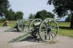 Antike Kanonen in Lappeenranta Stockfoto