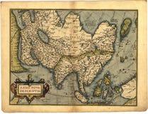 Antike Karte von Asien stock abbildung