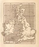 Antike Karte von Großbritannien Lizenzfreies Stockbild