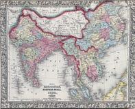 Antike Karte von Hindostan oder von Indien Lizenzfreie Stockfotografie