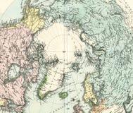 Antike Karte von Nordpol Stockfotos