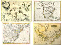 Antike Karten-Ansammlung Stockfotografie