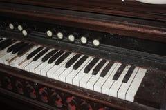 Antike Klavier-Tasten Stockbilder