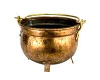 Antike kupferne Schüssel Lizenzfreies Stockbild