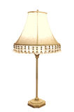 Antike Lampe mit gesticktem Farbton Stockbilder