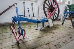 Antike landwirtschaftliche Maschinen - Unterlegscheibe oder Skerry Lizenzfreie Stockfotografie