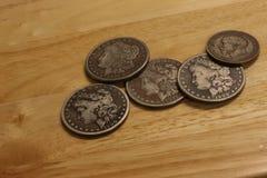 Antike Münzen Lizenzfreies Stockbild