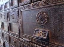 Antike Mailbox lizenzfreie stockfotografie