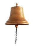 Antike Messingschiffsglocke lizenzfreie stockfotografie