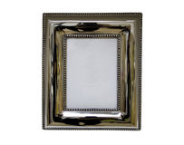 Antike Metallabbildung und Fotofeld Lizenzfreies Stockbild