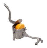 Antike Metallorange Juice Squeezer lizenzfreies stockfoto