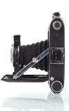 Antike mittlere Format-Kamera im Profil Lizenzfreies Stockfoto