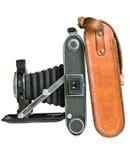 Antike mittlere Format-Kamera im Profil Lizenzfreie Stockfotos