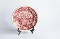 Antike Platte auf Stand Stockbild