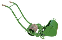 Antike Rasenmähmaschine Stockfoto