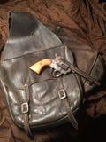 Antike Sattel Taschen u. Pistole Lizenzfreie Stockbilder