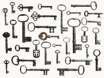 Antike Schlüsselsammlung Lizenzfreie Stockfotografie