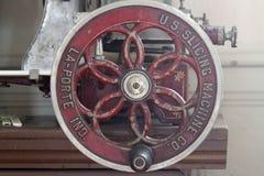 Antike Schneidemaschine für Lebensmittelgeschäft-oder Fleisch-Speicher Lizenzfreie Stockfotografie