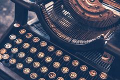 Antike Schreibmaschine Stockfotografie