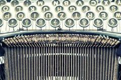 Antike Schreibmaschine Weinlesegegenstand Retro- Artabbildung stockfotos